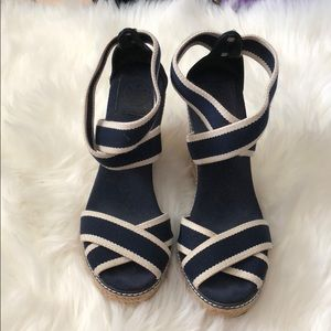 Tory Burch Espadrille Wedges Size 8